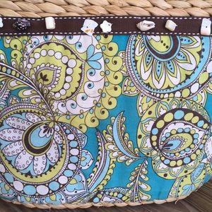 Vera Bradley Bags - Vera Bradley Straw Beach Bag - Peacock